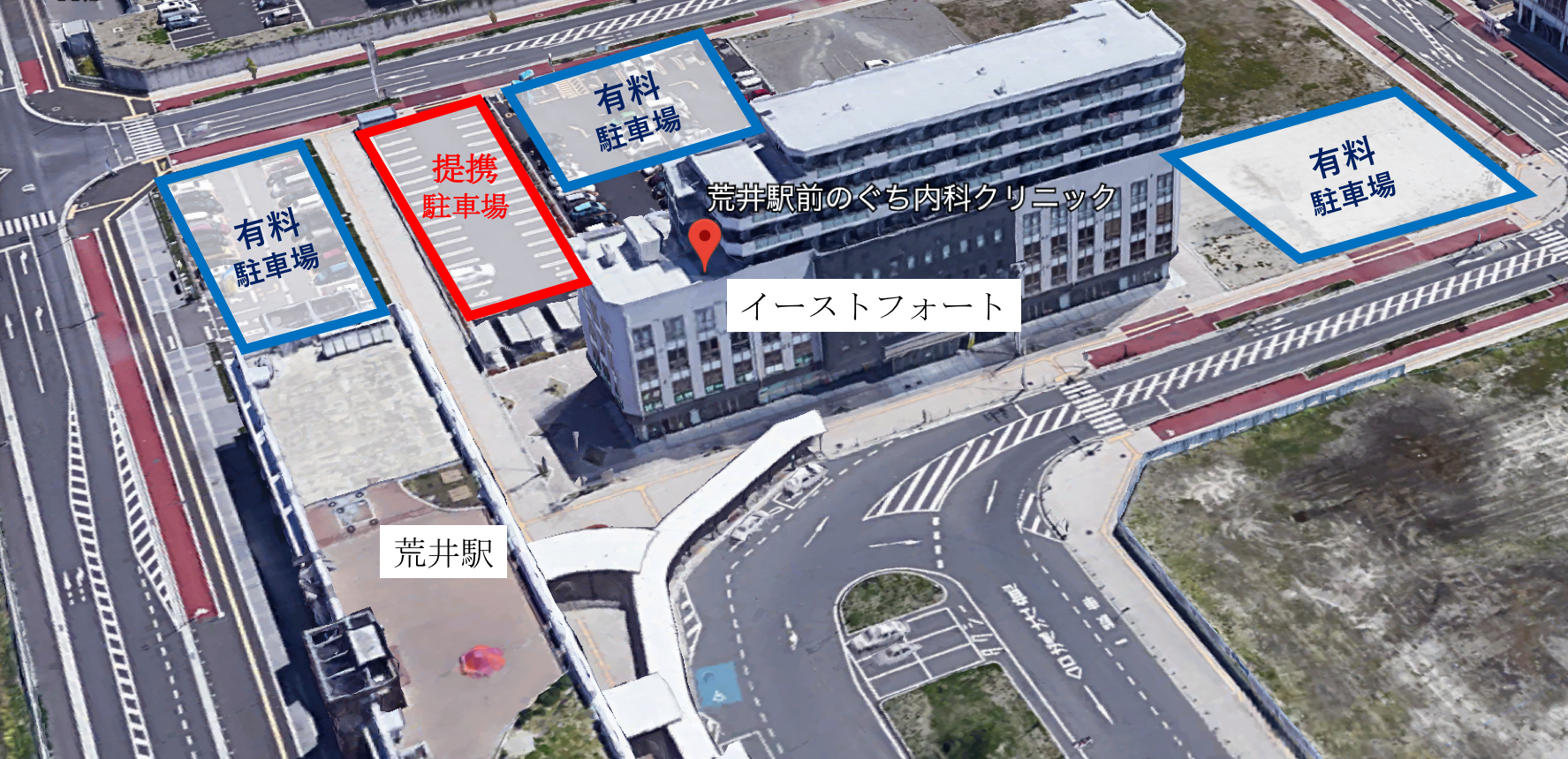 提携駐車場|荒井駅前のぐち内科クリニック